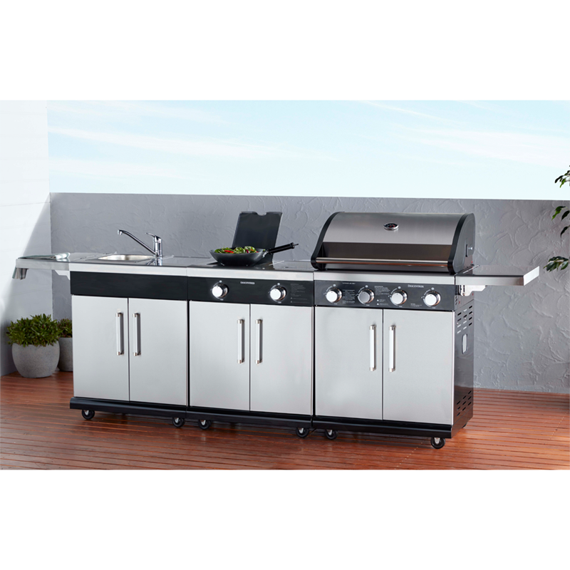 High Quality NEW Discoverer Island Inc BBQ, Sink, Range And Side Shelves By BBQs Galore